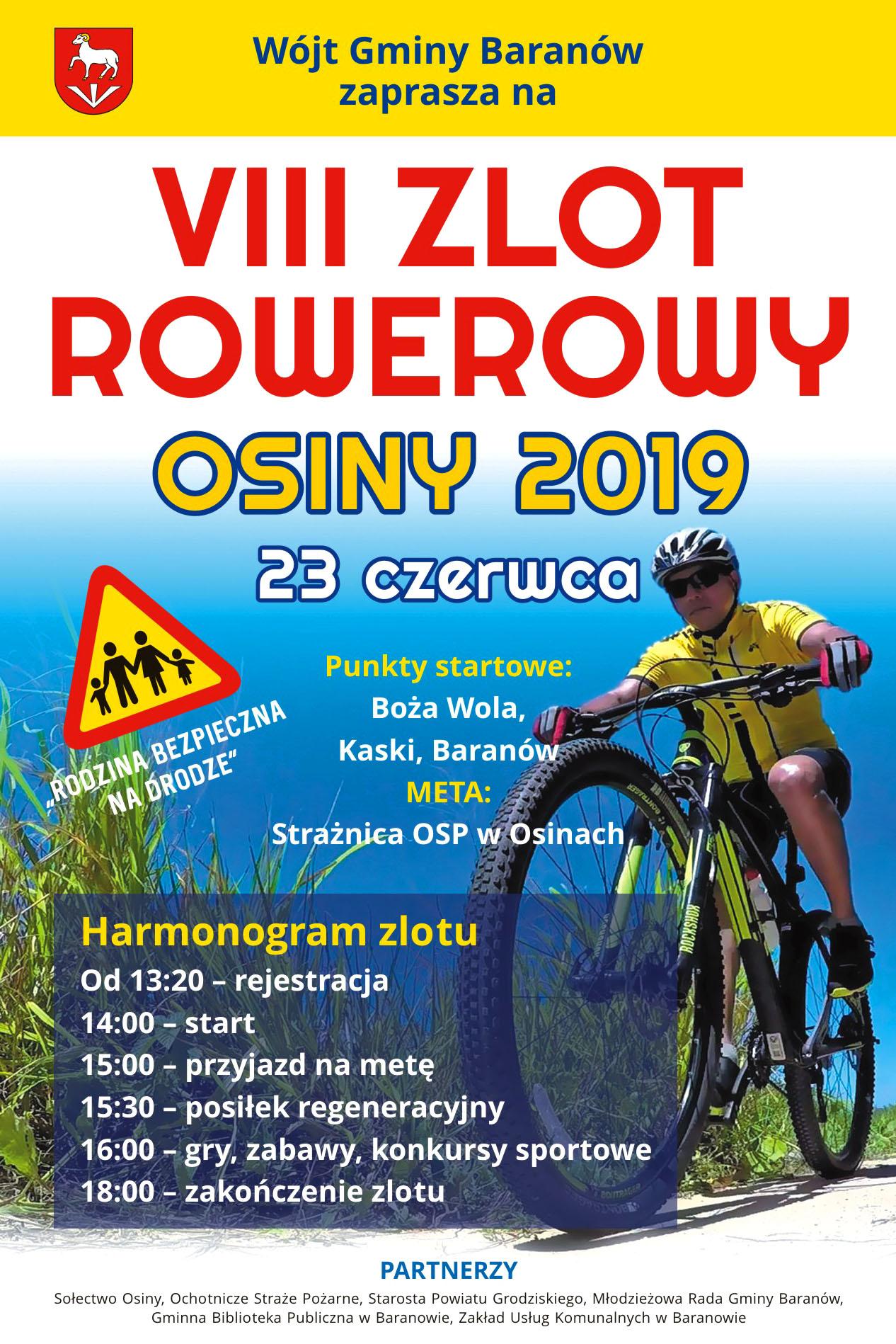 VIII Osiński Rajd Rowerowy 2019