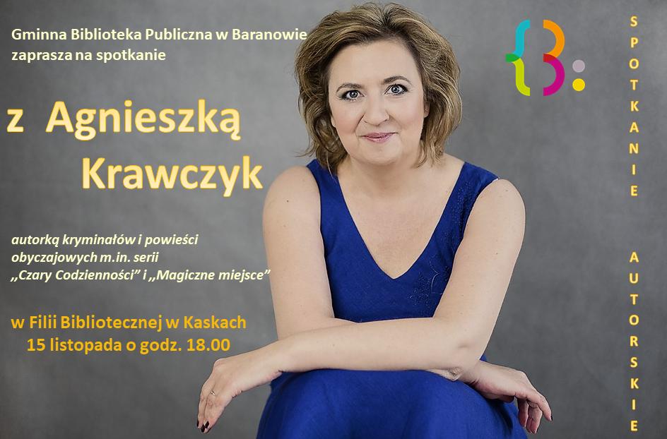 Spotkanie autorskie z Agnieszką Krawczyk